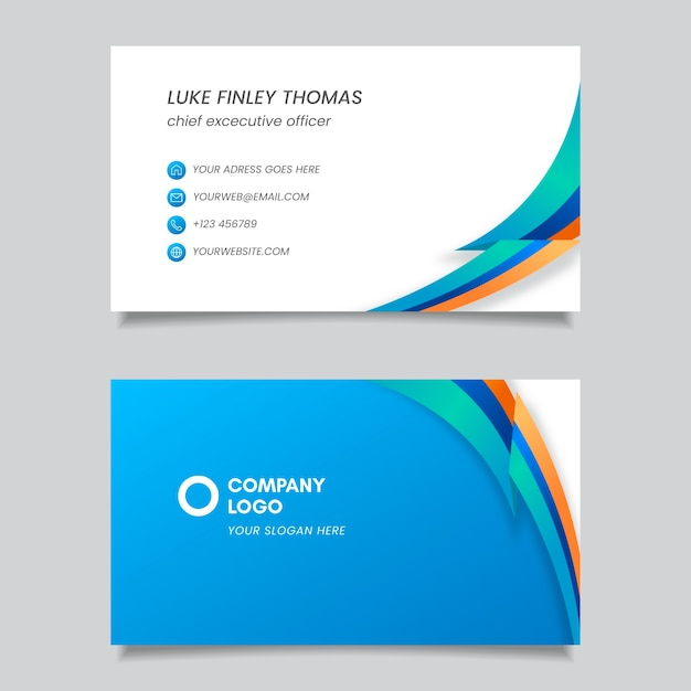 Professional abstract business card Free Vector