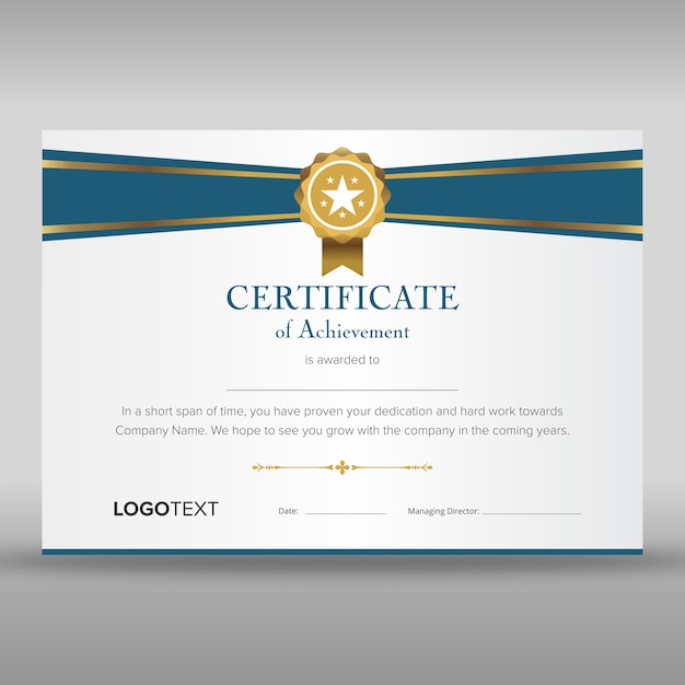 Professional Appreciation Certificate Templates with Clean Ribbon ...