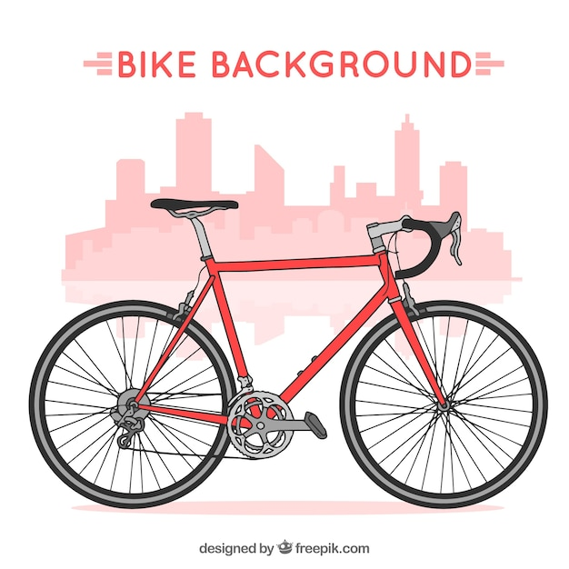 Professional bike background Free Vector