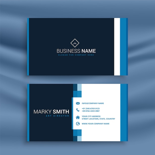 Professional blue business card template vector free download professional blue business card template free vector cheaphphosting Gallery
