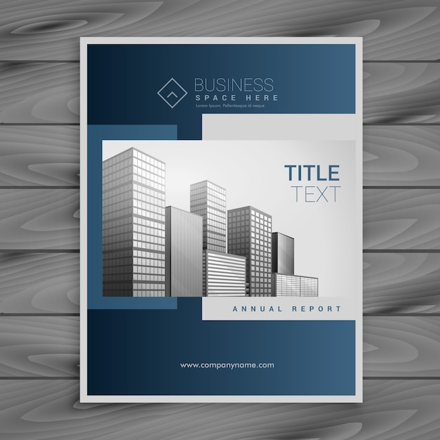 Professional Blue Company Brochure Template Design Vector  Free