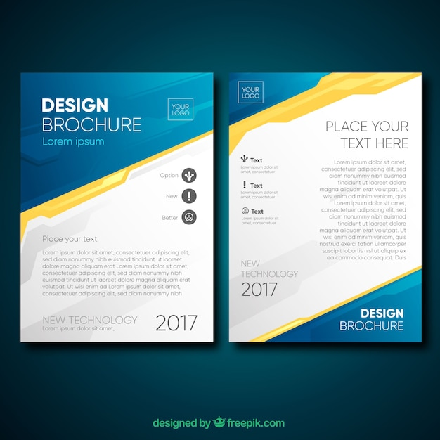 Professional Brochure With Original Style Vector Free