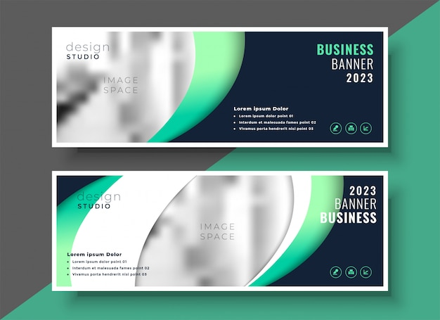 Professional business banner template layout design Free Vector