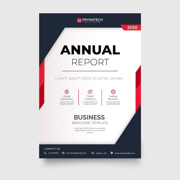 Professional business brochure template Free Vector