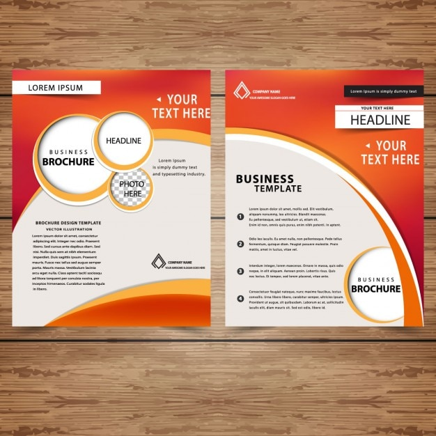 business brochures templates free - professional business brochure templates vector free