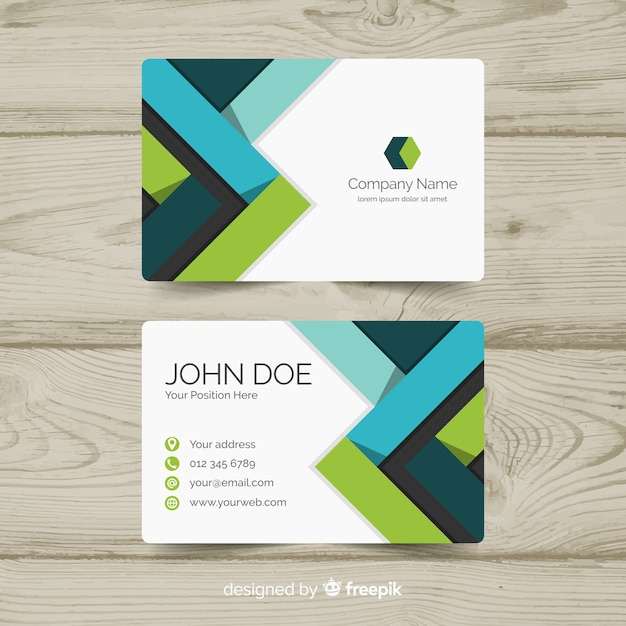 Professional business card design Free Vector
