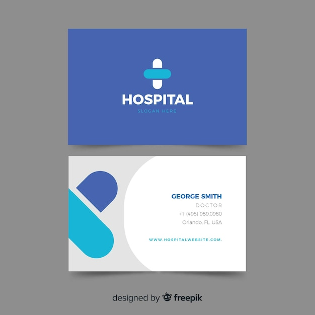 Professional Business Card For Hospital Or Doctor Vector Free Download