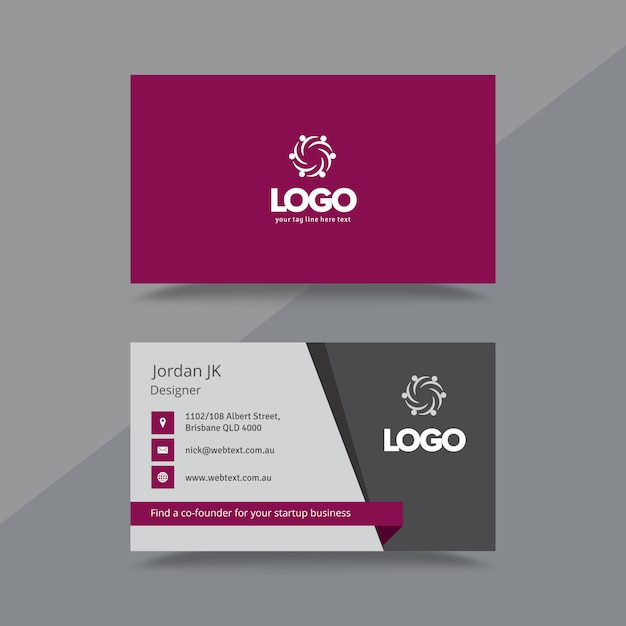 Professional business card and letterhead design Premium Vector