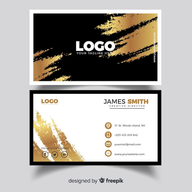 Professional business card template in elegant style vector free professional business card template in elegant style free vector flashek