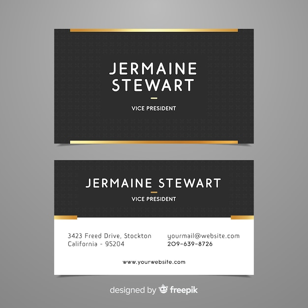 Professional business card template in elegant style vector free professional business card template in elegant style free vector wajeb Images