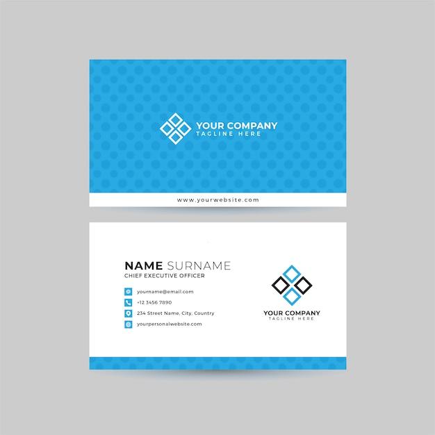 Professional business card  template set Premium Vector