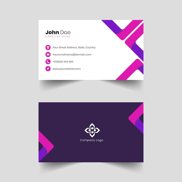 Professional business card template Premium Vector
