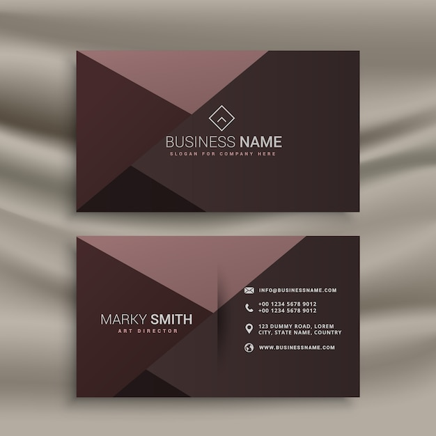 Professional business card with dark colors vector free for Business card colors