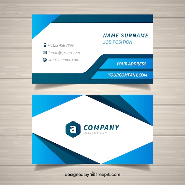 Professional business card with modern style vector free download professional business card with modern style free vector colourmoves Image collections