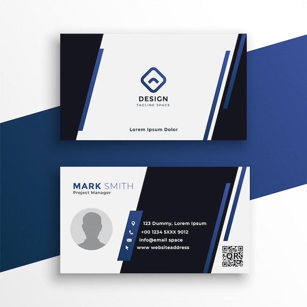 Professional business card for your stationary Free Vector