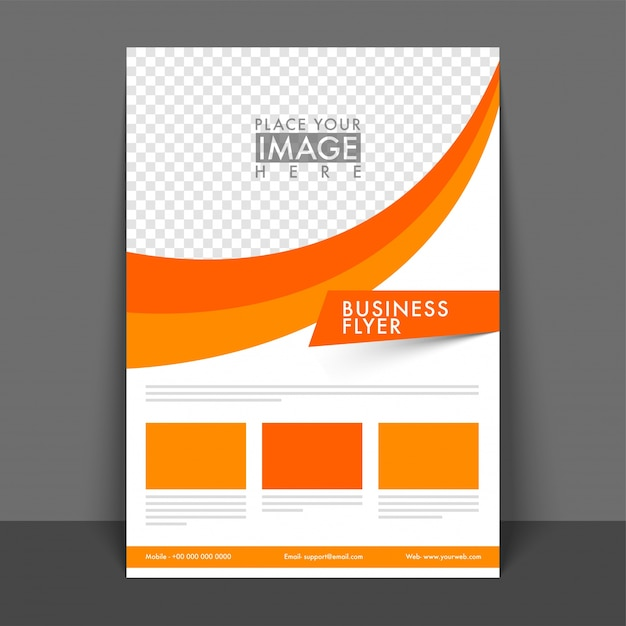 Professional Business Flyer design with space\ for your image.