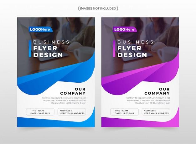 Professional business flyer design Premium Vector