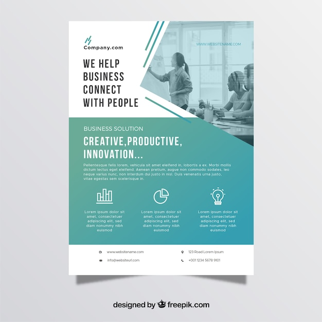 Professional business flyer template vector free download for Free business flyer templates