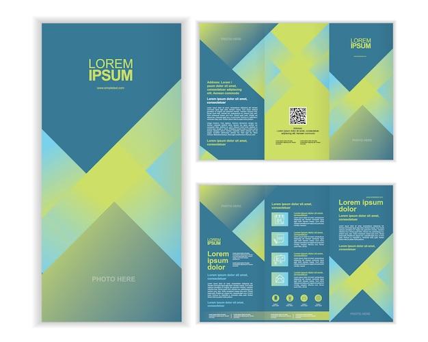 professional business three fold brochure template c vector