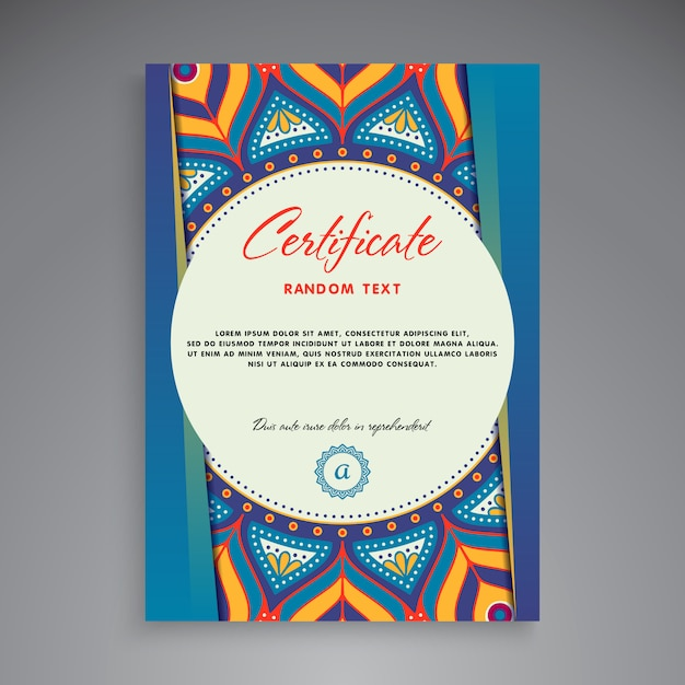 Professional certificate template design Free Vector