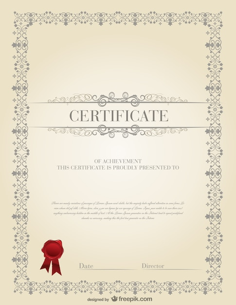 Professional certificate template vector free download professional certificate template free vector yelopaper Gallery