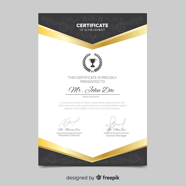 Professional certificate template Vector | Free Download