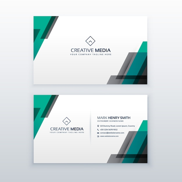 professional clean business card design vector free download