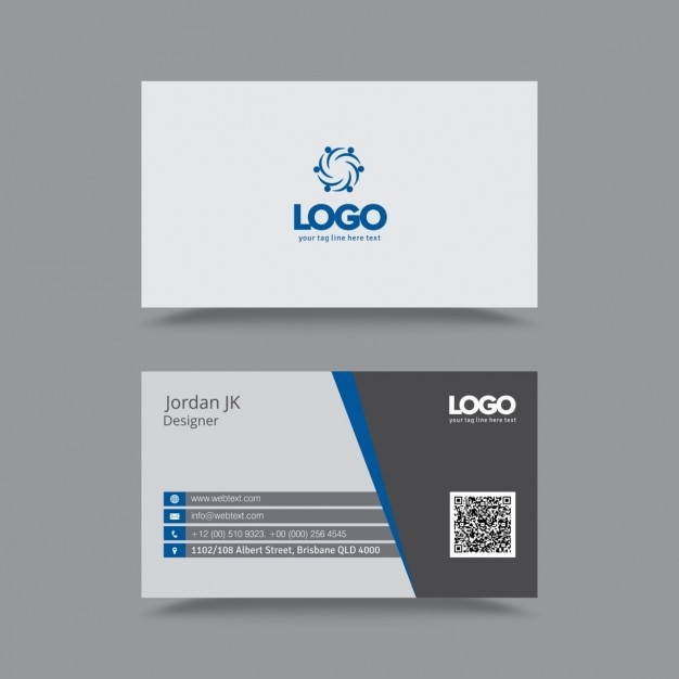Professional clean business card vector free download for Business cards professional