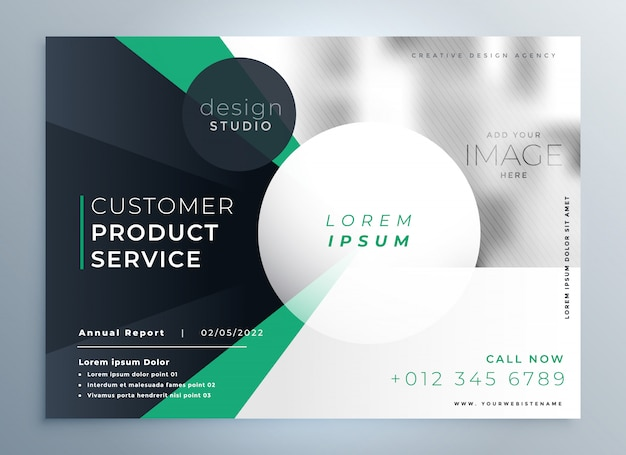 Professional company business brochure template Free Vector
