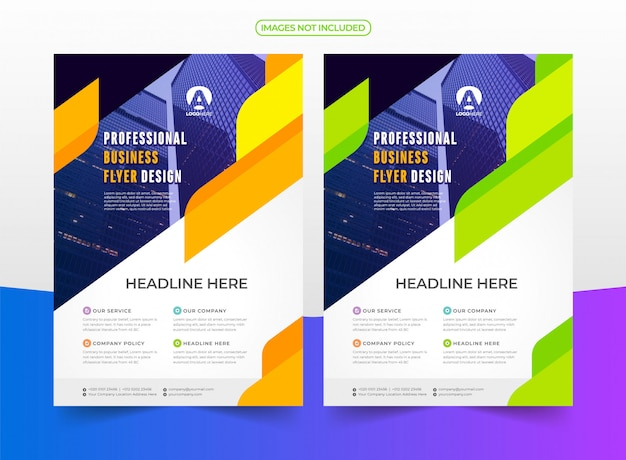Professional company flyer Premium Vector