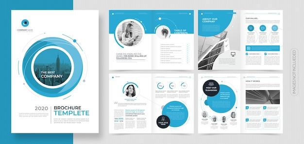 Professional corporate business brochure or booklet template Premium Vector