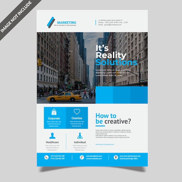 Professional Corporate Flyer | Professional Corporate Flyer Vector Premium Download