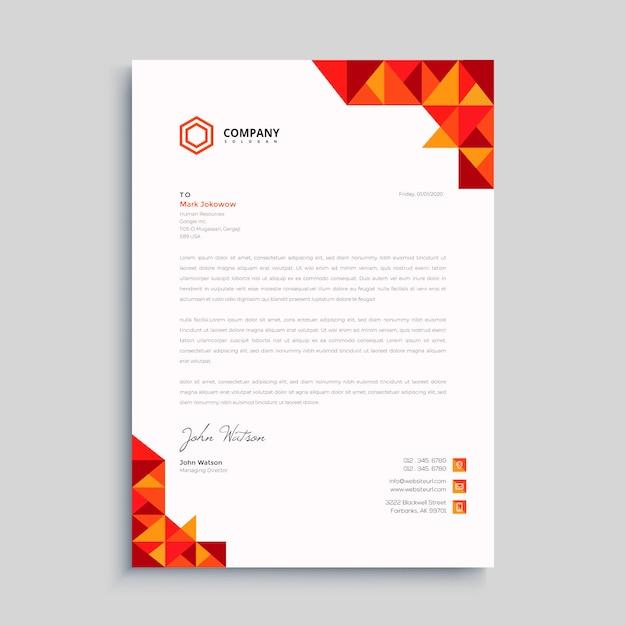 Professional creative letterhead Premium Vector