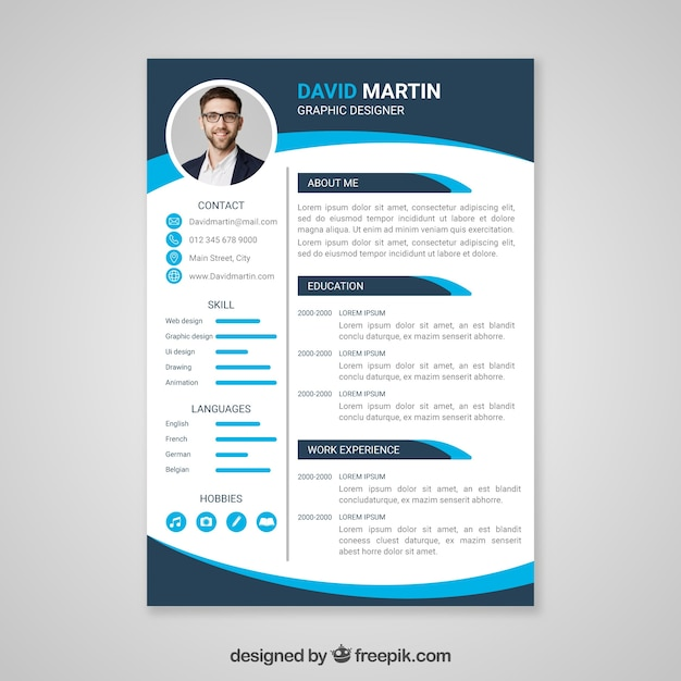 Cv Template Vectors, Photos And PSD Files
