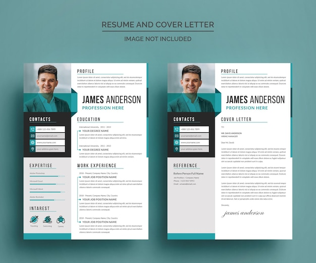 Premium Vector Professional Cv Resume And Cover Letter