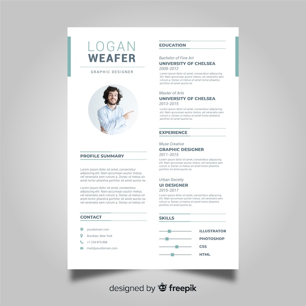 professional cv resume template vector