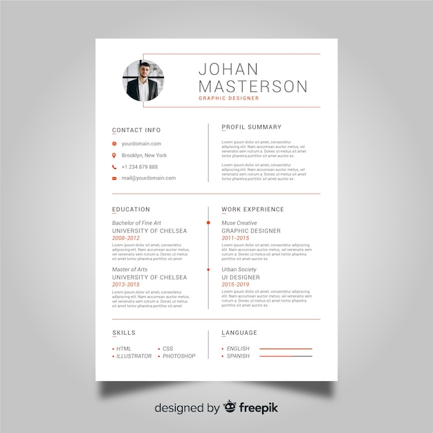 Professional cv resume template Vector | Free Download