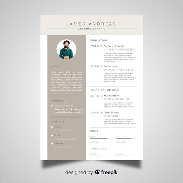 Professional cv resume template Free Vector
