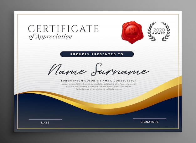 Professional diploma certificate template design Vector ...
