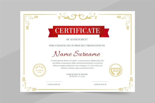 Professional diploma template Premium Vector