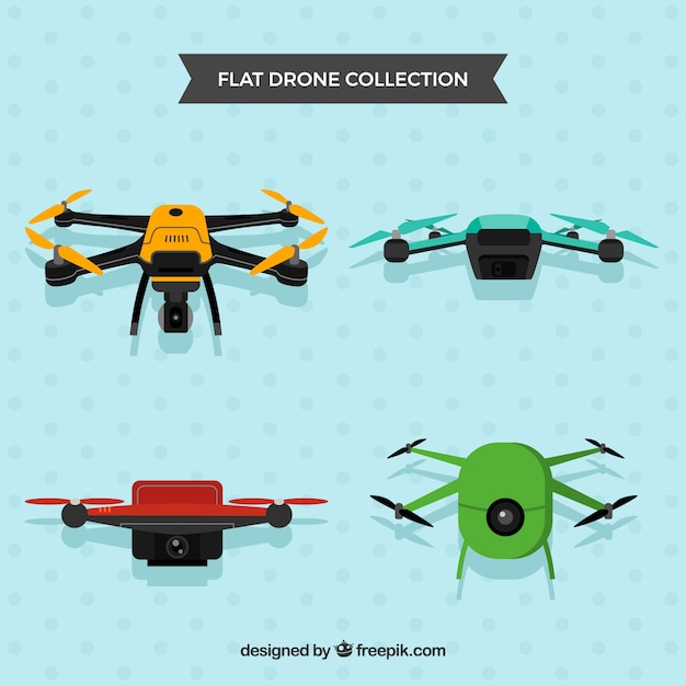 Professional drones with cameras