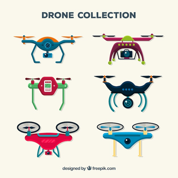Professional drones with colorful style