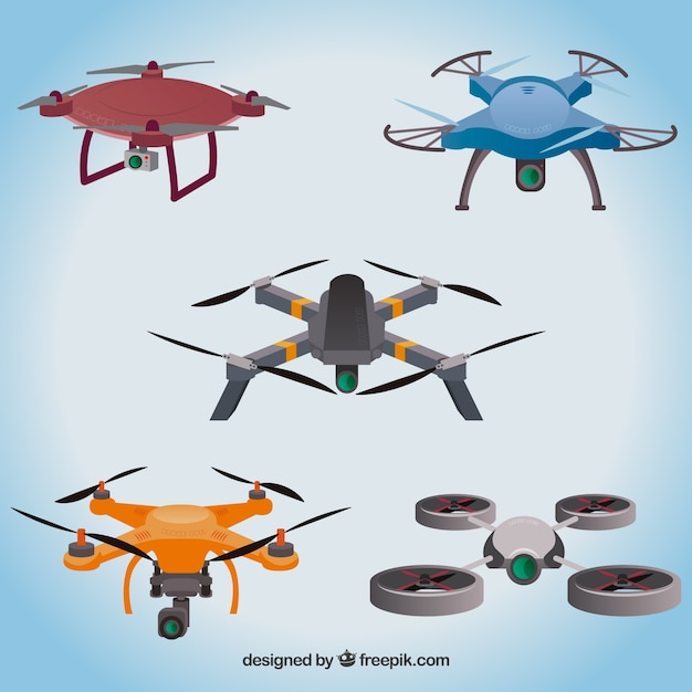 Professional drones with modern style