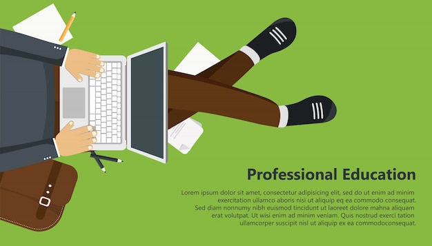 Professional education Free Vector
