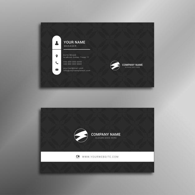 Professional elegant business card design Premium Vector