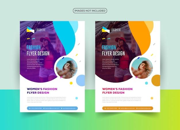 Professional fashion flyer design template Premium Vector