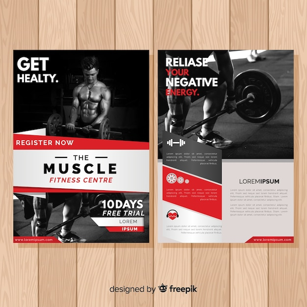 Professional Fitness Flyer Template Free Vector