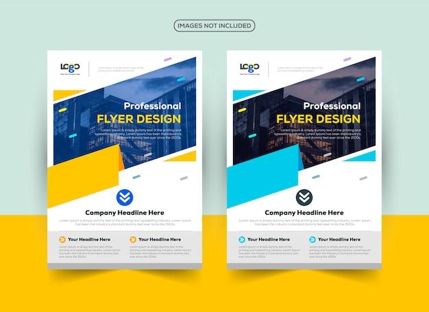 Professional flyer design template Premium Vector