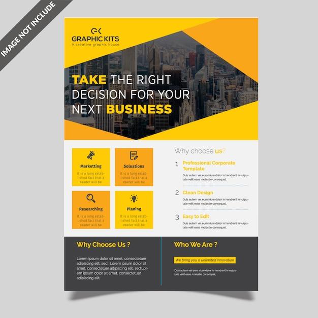 Professional flyer design Premium Vector