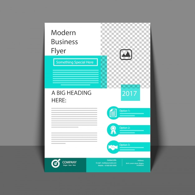 Professional Flyer In Green Color Corporate Brochure Annual Report